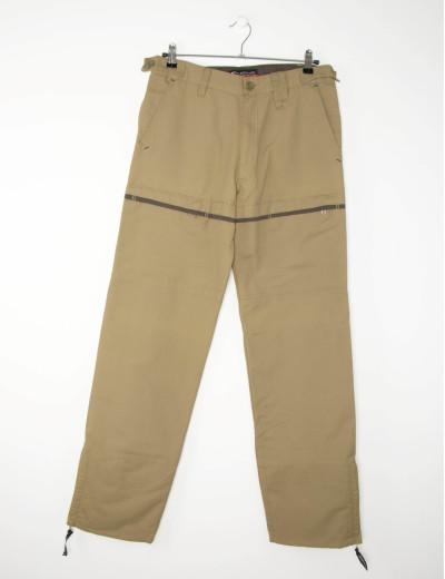 Aνδρικό μπεζ υφασμάτινο παντελόνι 4623D