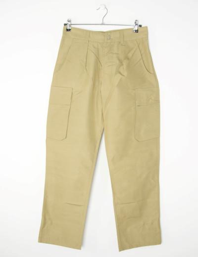 Ανδρικό μπεζ υφασμάτινο παντελόνι τσέπες στο πλάϊ WORKS