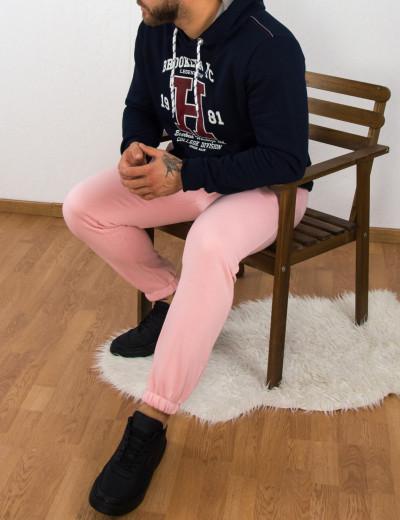 Ανδρική ροζ φόρμα με λάστιχο 7044P