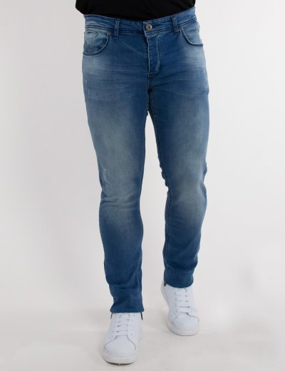 Ανδρικό μπλε ανοιχτό τζιν παντελόνι σωλήνας 2037920