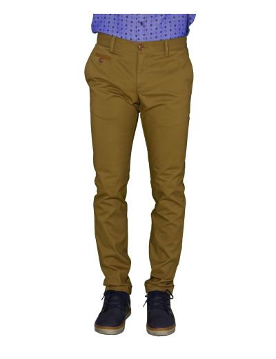Ανδρικό υφασμάτινο παντελόνι Gio.S καφέ 6708W17R