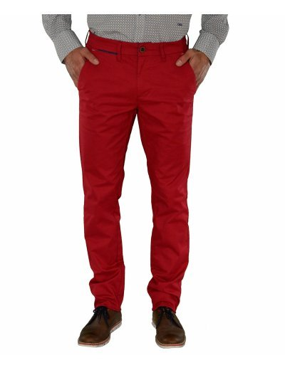 Ανδρικό παντελόνι Trial κόκκινο υφασμάτινο Taylor S17R