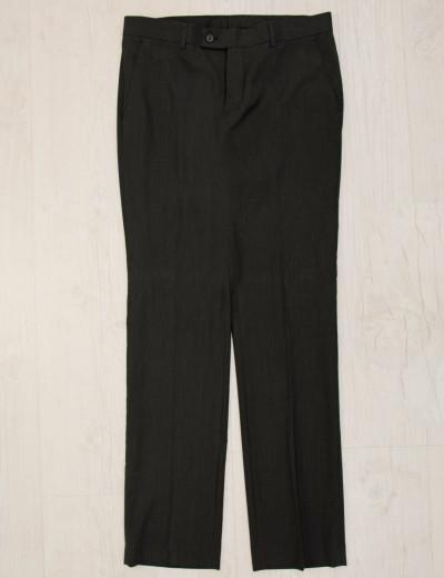 Ανδρικό μαύρο υφασμάτινο παντελόνι μονόχρωμο 402777