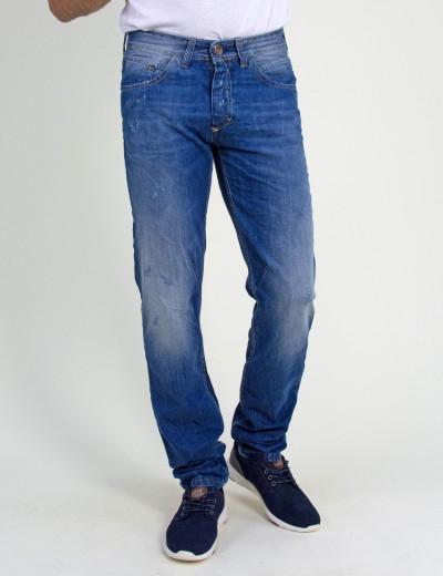 Ανδρικό τζην παντελόνι Trial μπλε ξεβαμμένο Steven 18