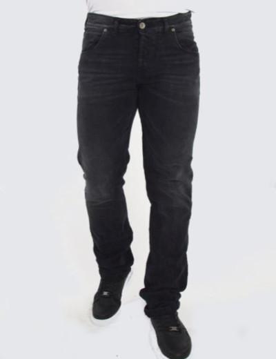Ανδρικό μαύρο τζιν παντελόνι ελαφρύ ξέβαμμα Trial EthanA 20B