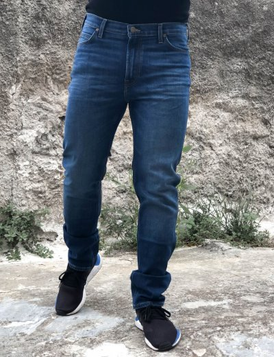 Lee Rider Slim ανδρικό τζιν παντελόνι σκούρο μπλε L701DHLL