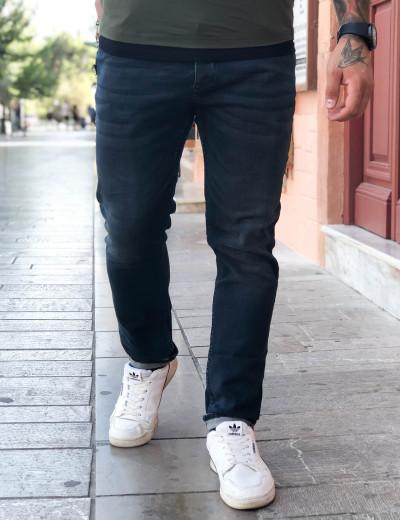 Ανδρικό σκούρο μπλε τζιν παντελόνι με ξέβαμμα GB4271