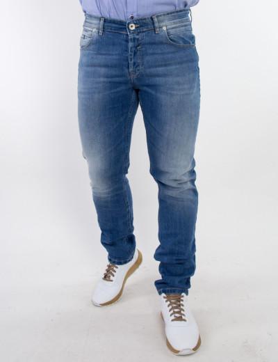 Ανδρικό μπλε τζιν παντελόνι ξεβάμματα Trial 20SIMONA