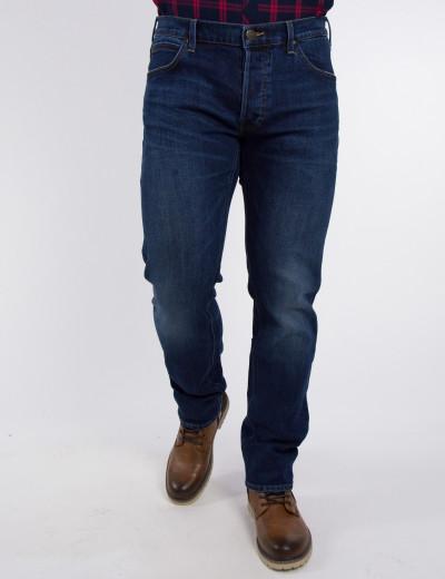 Ανδρικό μπλε τζιν παντελόνι Daren μεσοκάβαλο L706JXGI