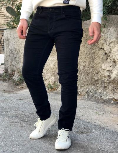 Ανδρικό μαύρο τζιν παντελόνι πεντάτσεπο GB00501