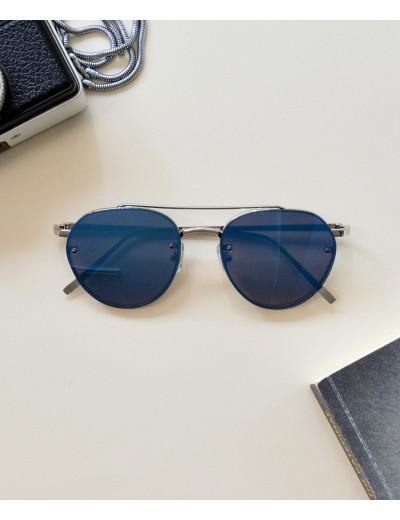 Γυναικεία γυαλιά ηλίου οβάλ καθρέπτης μπλε Premium S7079R
