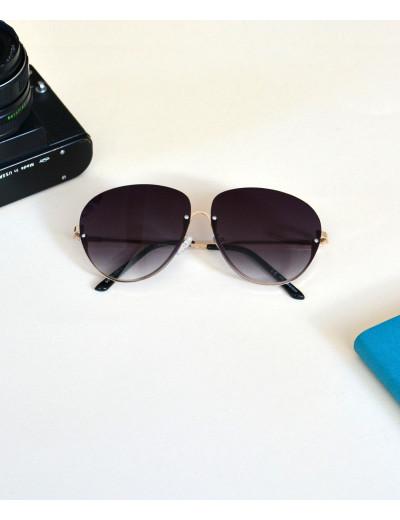 Γυναικεία γυαλιά ηλίου οβάλ μαύρα Premium S5100