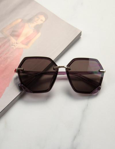 Γυναικεία μωβ γυαλιά ηλίου με μωβ σκελετό Premium S1104M