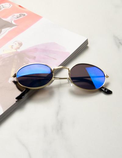 Γυναικεία πράσινα οβάλ γυαλιά ηλίου καθρέπτης Luxury LS3063P