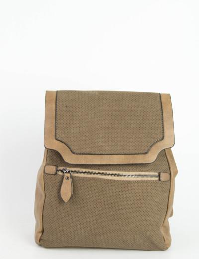 Γυναικείο καφέ τετράγωνο σακίδιο πλάτης 5299R