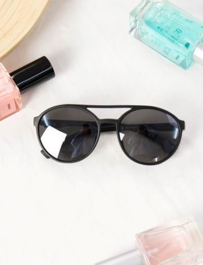 Γυναικεία γυαλιά ηλίου οβάλ μαύρα Premium S1010