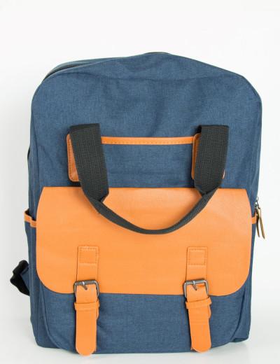 Ανδρικό μπλε στρογγυλό Backpack μονόχρωμο 1205F