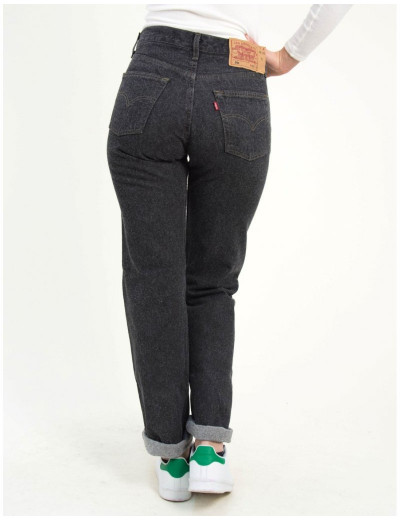 Γυναικείο γκρι με χνούδι ψηλόμεσο τζιν παντελόνι Levis 5010159