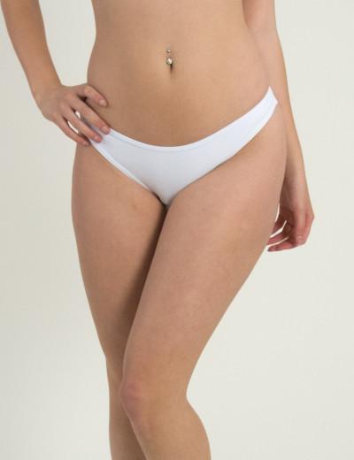 Γυναικείο Brazil σλιπ μαγιό λευκό με σούρα 28965F