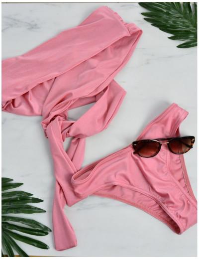 Γυναικείο μπικίνι ροζ πολυμορφικό 889088