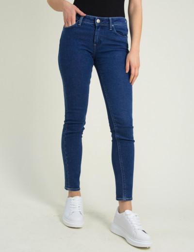 Γυναικείο μπλε τζιν παντελόνι Scarlett Skinny L526ROEX