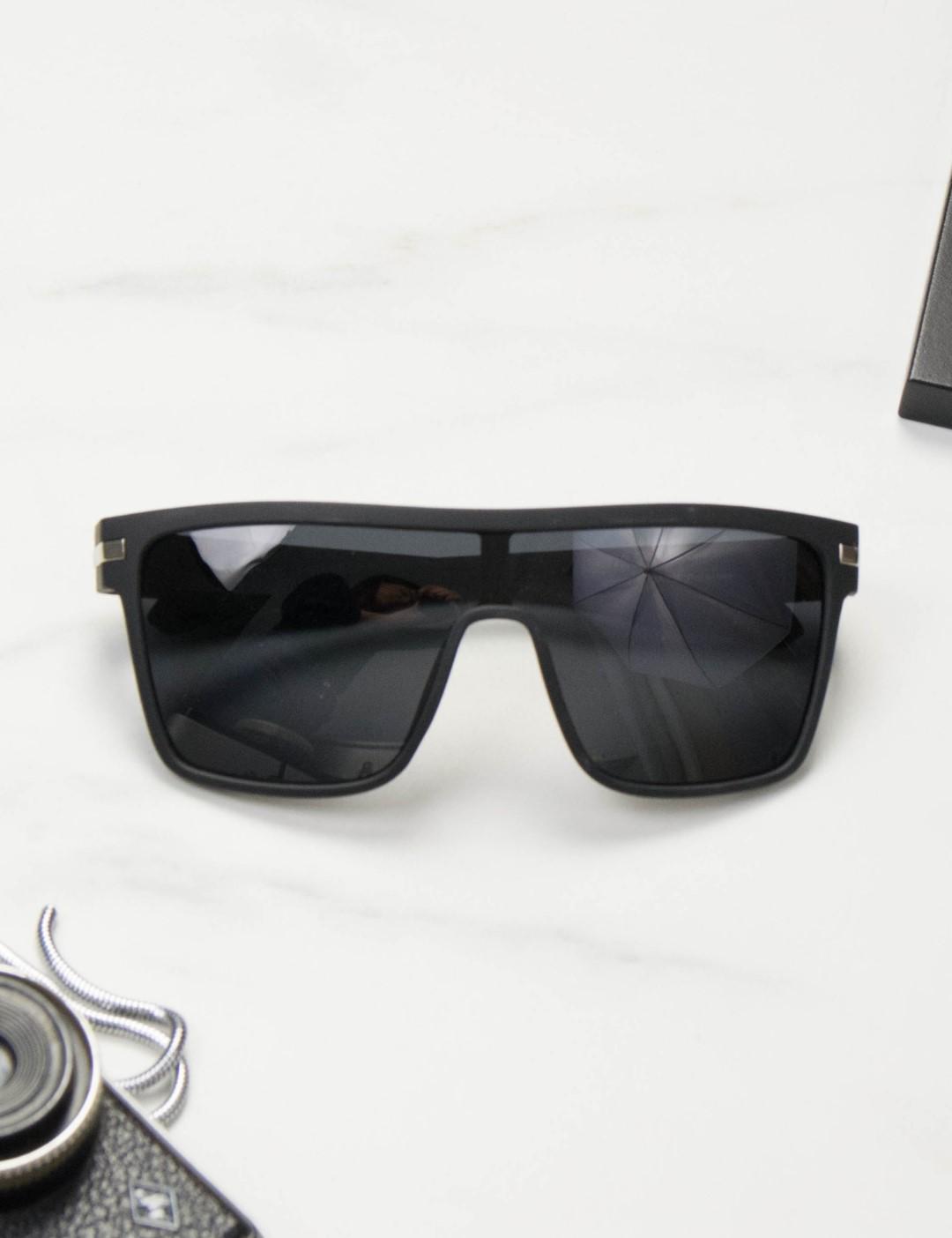 a051ff98c5 Ανδρικά μαύρα τετράγωνα γυαλιά ηλίου Polarized S2064S