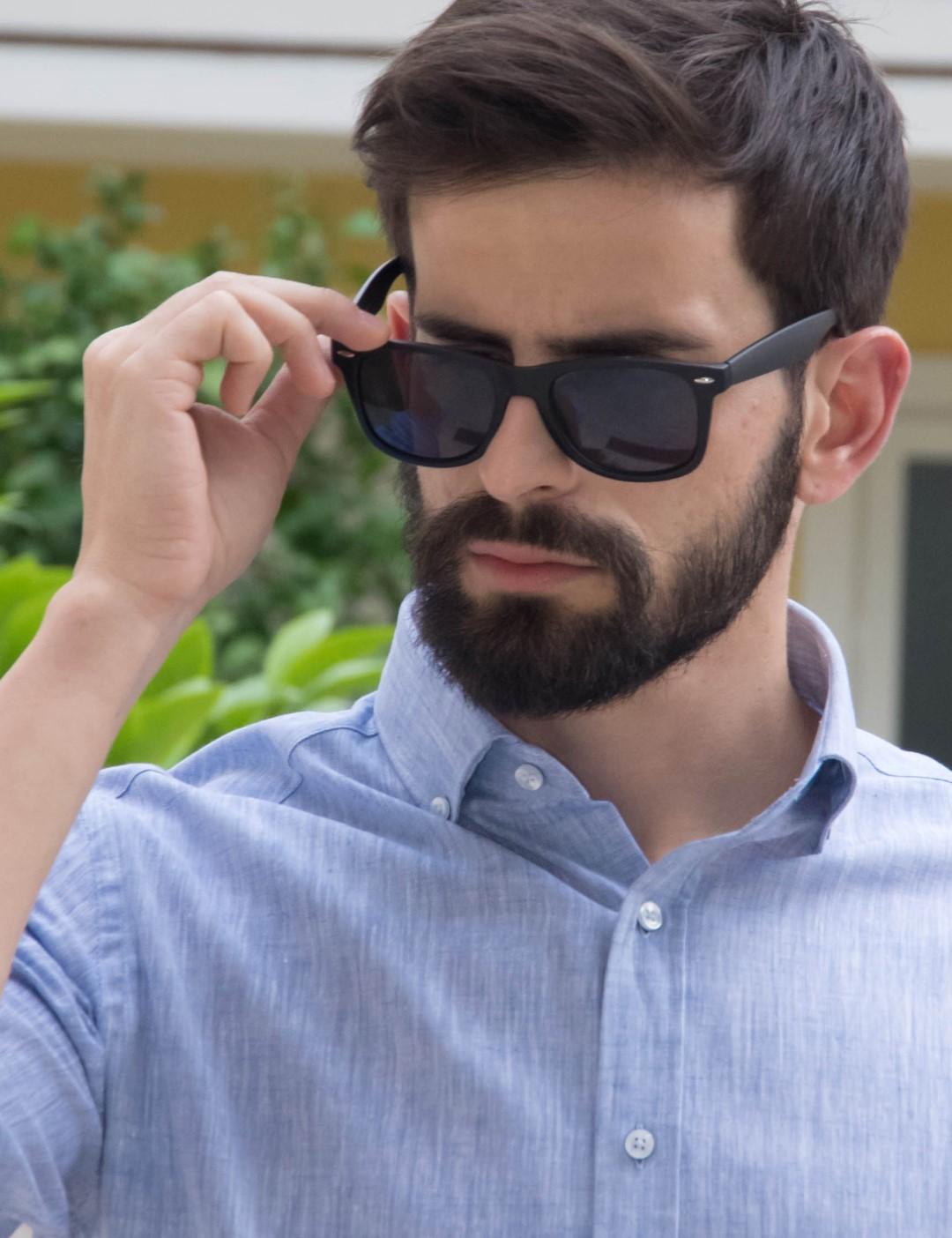 f9cb55a63a Ανδρικά γυαλιά ηλίου ρετρό μαύρα luxury S9125
