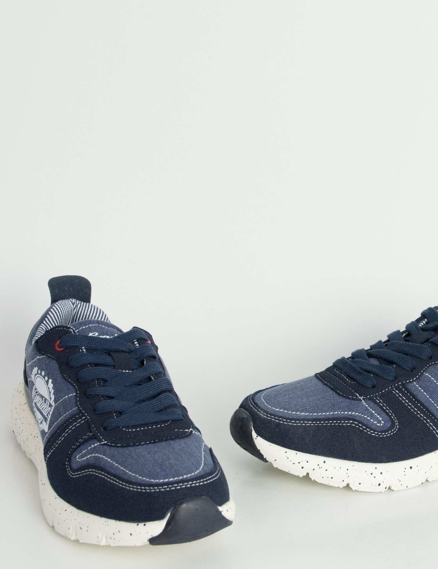 2b624284615 Ανδρικά Sneakers παπούτσια μπλε υφασμάτινα K70420C