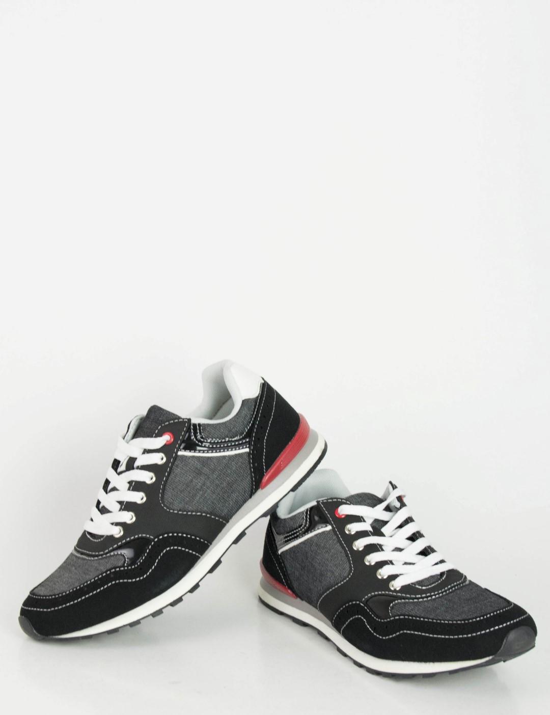 2874374d95f Ανδρικά μαύρα Sneakers παπούτσια με κορδόνια R8276