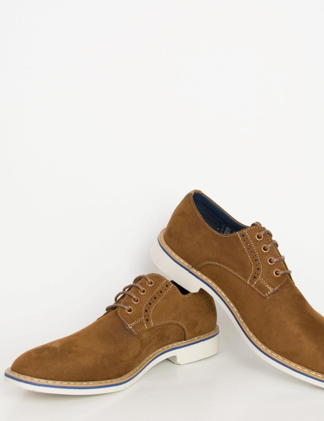 afed0b9f63ba Ανδρικά μπλε σουέντ δετά παπούτσια Casual EL0636 | oeek.gr