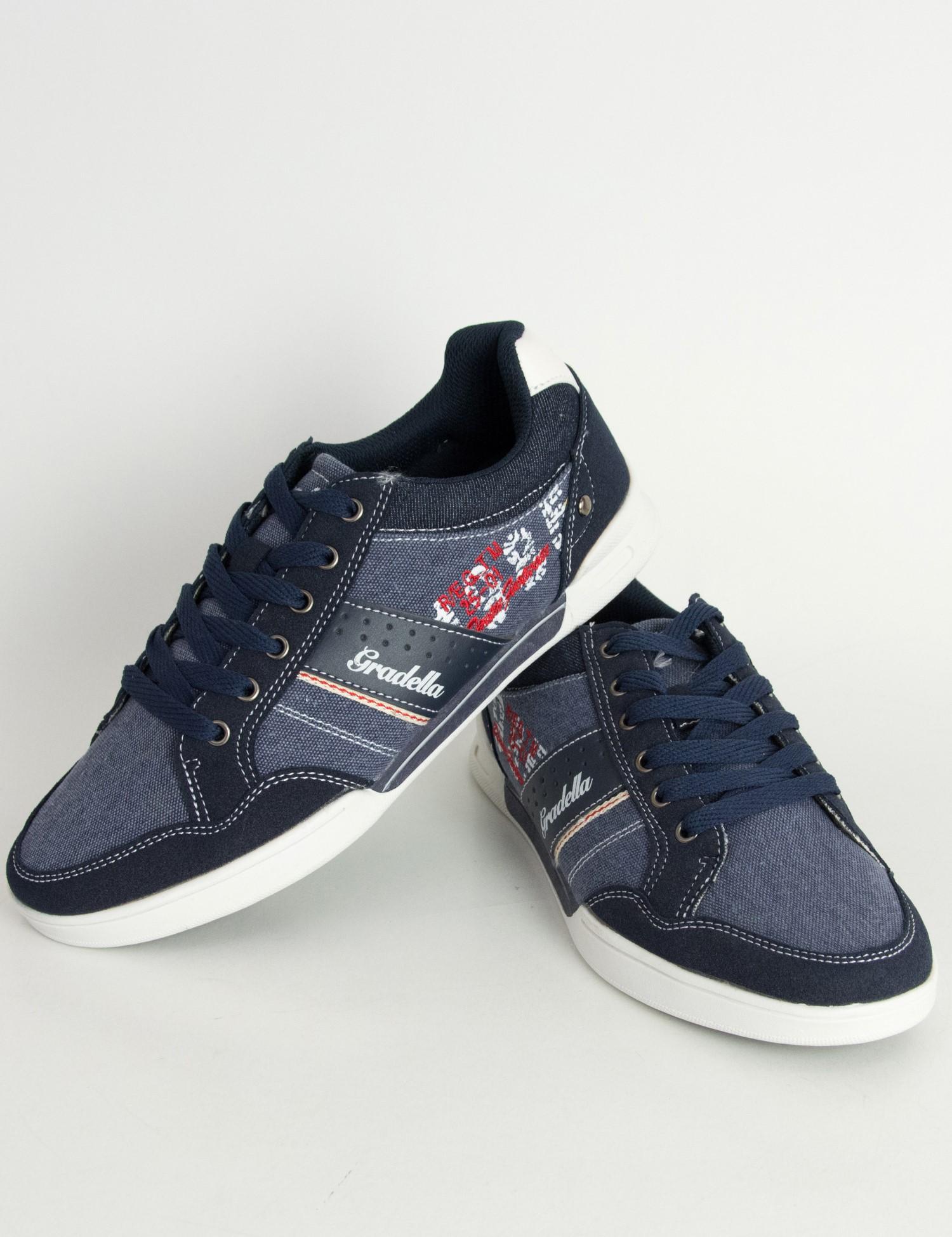 Ανδρικά Casual παπούτσια μπλε χαμηλά κορδόνια K70422W 4fc938f7431