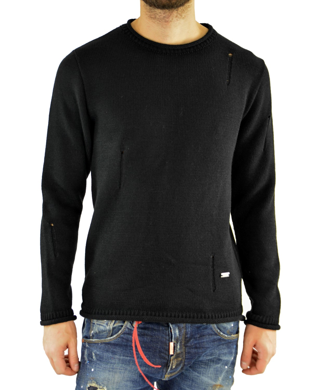 4af94a9cd37e Darious μαύρη πλεκτή μακρυμάνικη μπλούζα 1676