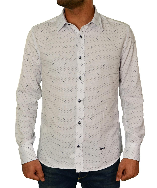daa485cff52 Ανδρικό πουκάμισο Ben Tailor λευκό πουά 20173410 - Ben Tailor -