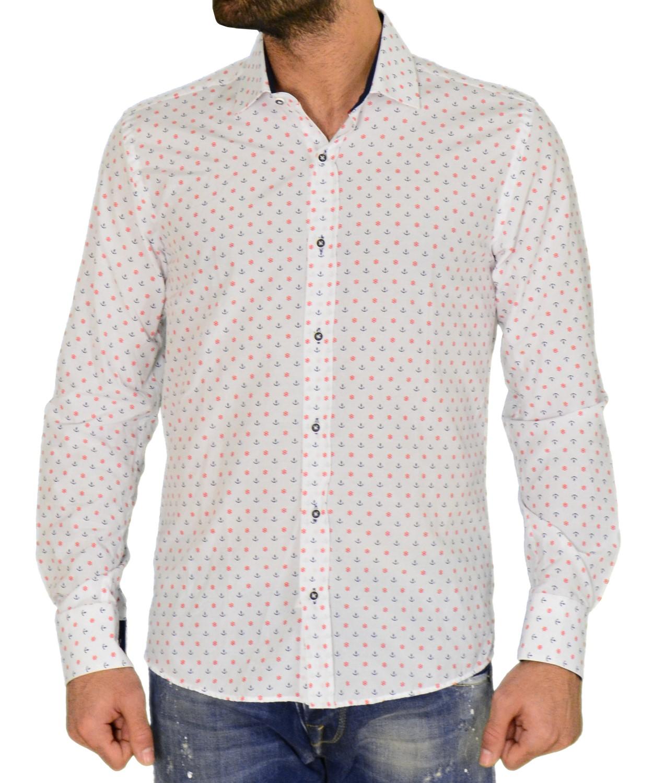 935fab932ff0 Torouxo Black duck λευκό πουκάμισο με σχέδια 016 1912W