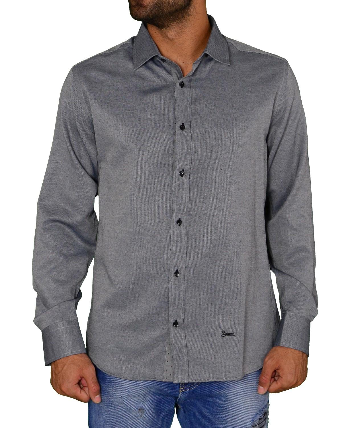 Ανδρικό πουκάμισο υφασμάτινο γκρι Ben Tailor 219113 a6c72c2d48d