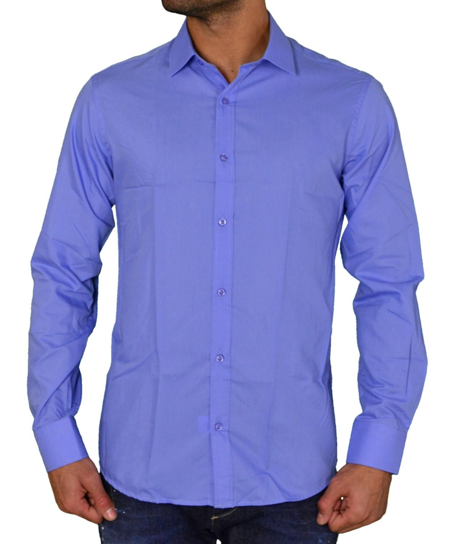 f6f75923ff8e Ανδρικά   Ρούχα   Πουκάμισα   Ανδρικό μονόχρωμο πουκάμισο Gio.S σιέλ ...