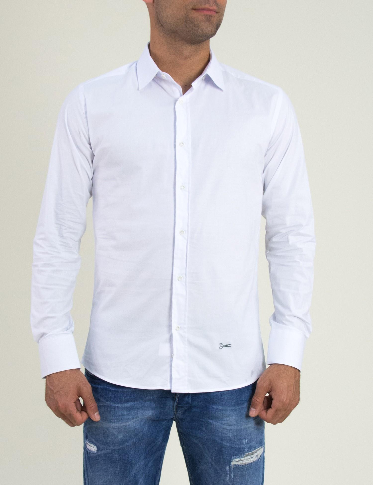 ea33c3905906 Ανδρικό λευκό μονόχρωμο πουκάμισο Ben Tailor 185210
