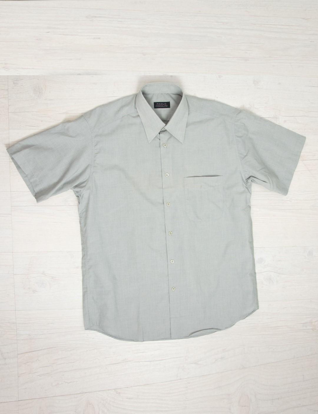24d42c57e3a7 Ανδρικό πουκάμισο γκρί κοντομάνικο με τσέπη 54064