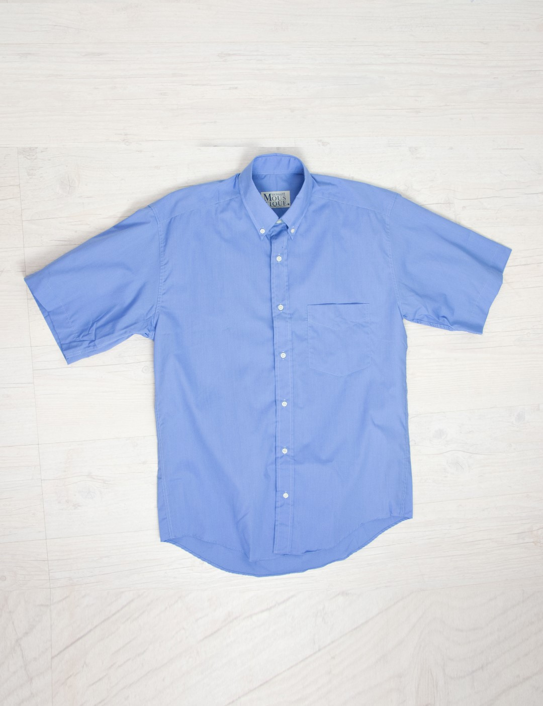 b020d9a3372 Ανδρικό κοντομάνικο πουκάμισο σιέλ 94655