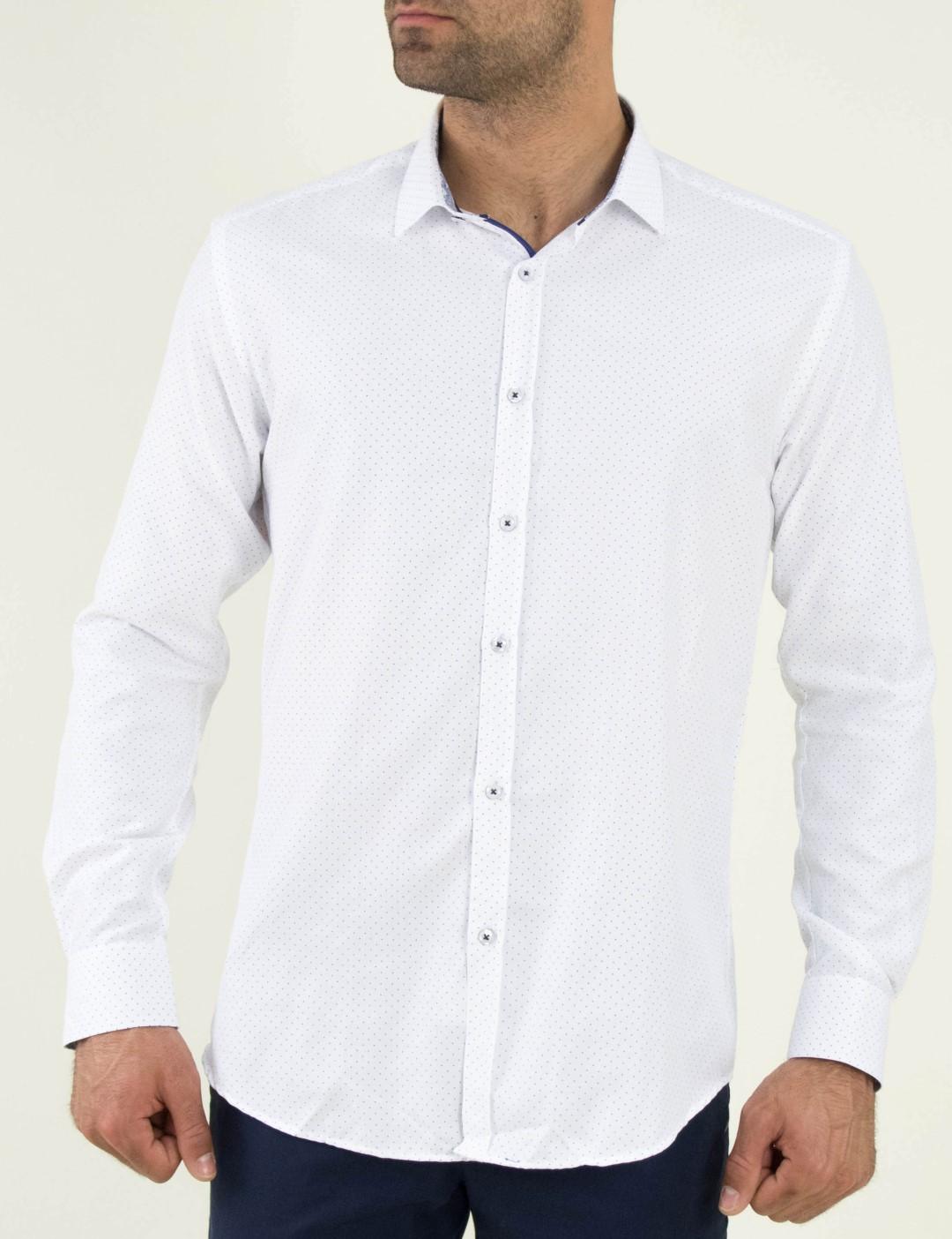 9b04a81bb7fb Ανδρικό λευκό πουκάμισο πουα Firenze 01951088