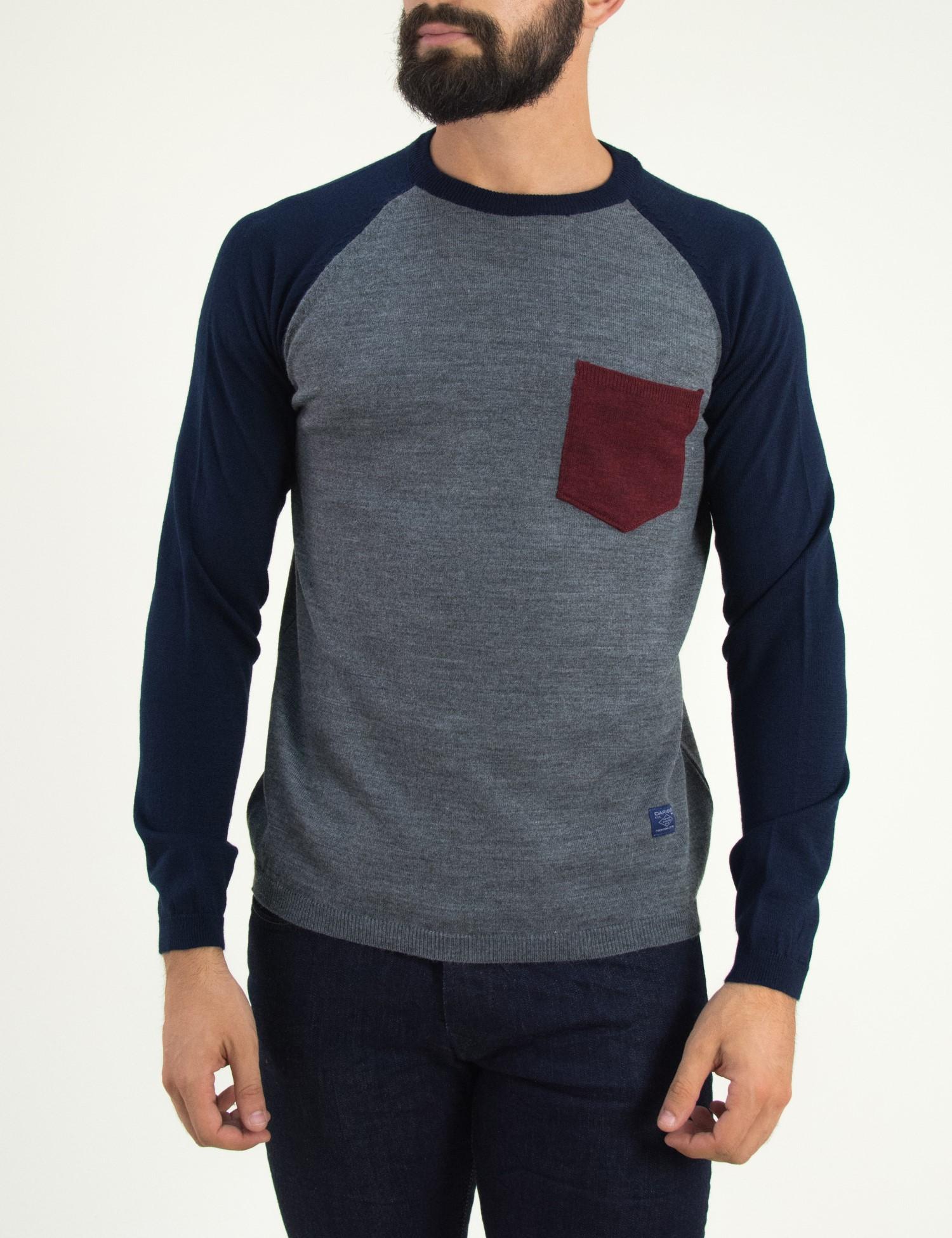 fb7c68321fe0 Darious γκρι μακρυμάνικη μπλούζα 1677