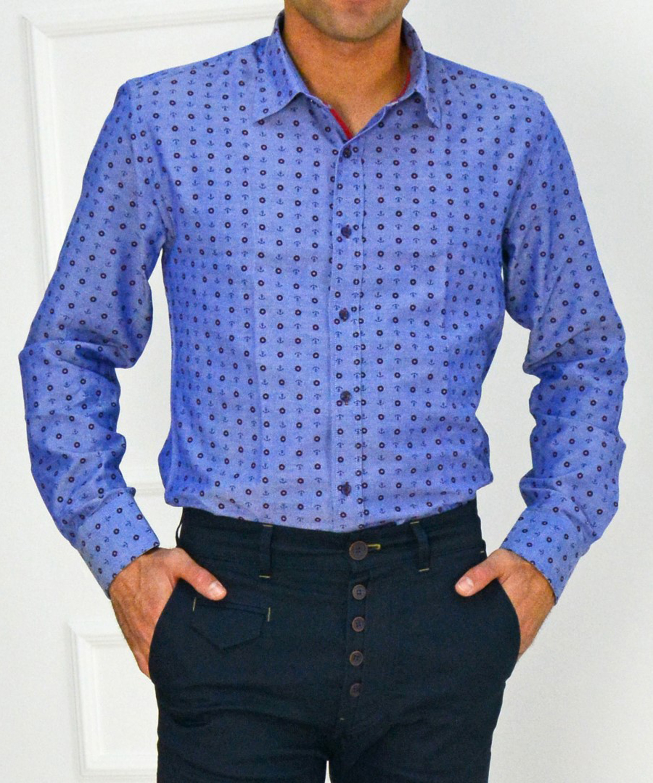 Ανδρικό πουκάμισο Ben Tailor μπλε 20173401 ab2cdf680d4