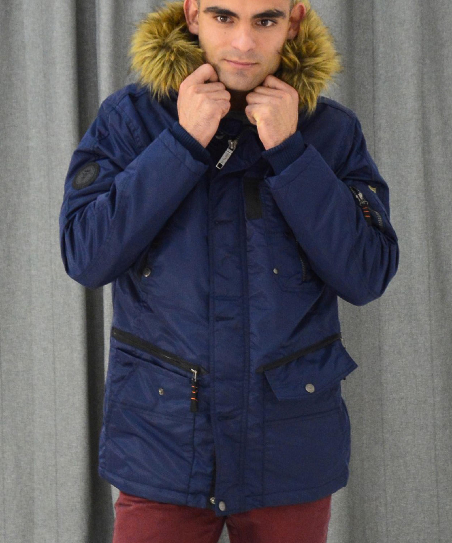 Ανδρικό μπουφάν Jacket Inox μπλε 16541F