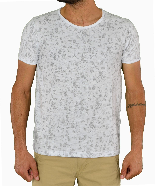 9d80568c5674 Ανδρικό t-shirt Everbest λευκό με τύπωμα US1750B