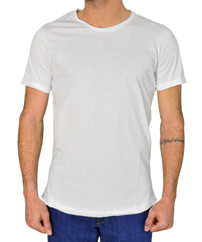 142221d6d325 Ανδρικό μονόχρωμο κοντομάνικο Madmext λευκό…