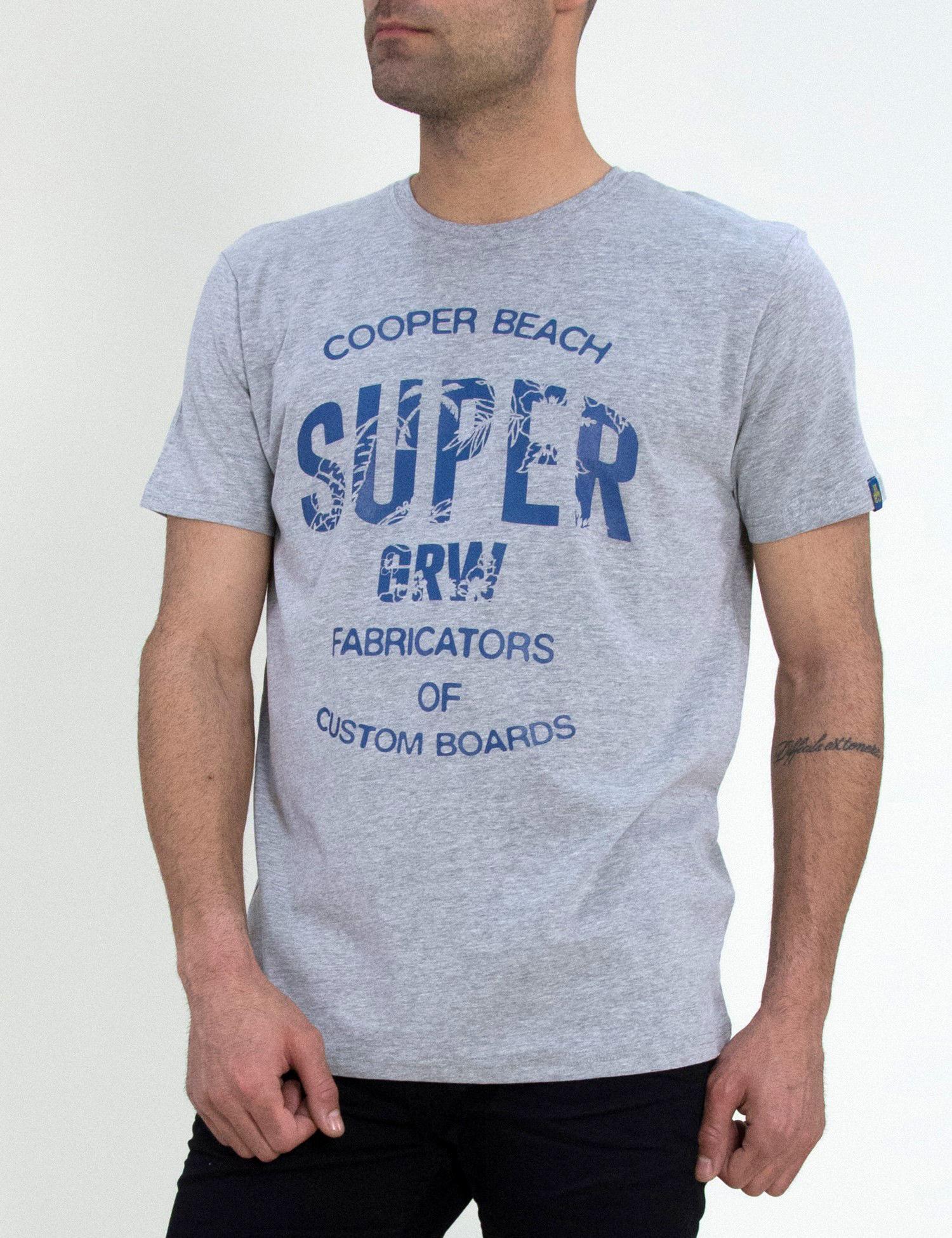 58cc8bf3543d Ανδρικό βαμβακερό T-shirt Green Wood γκρι σχέδια 21K600381