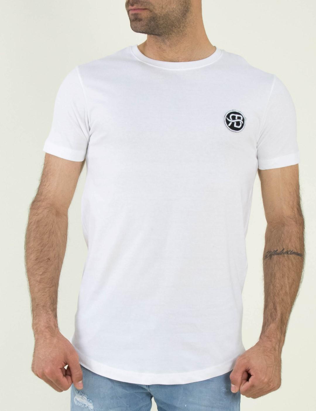 565a542d19a0 Ανδρικό λευκό βαμβακερό Tshirt τύπωμα 06705D