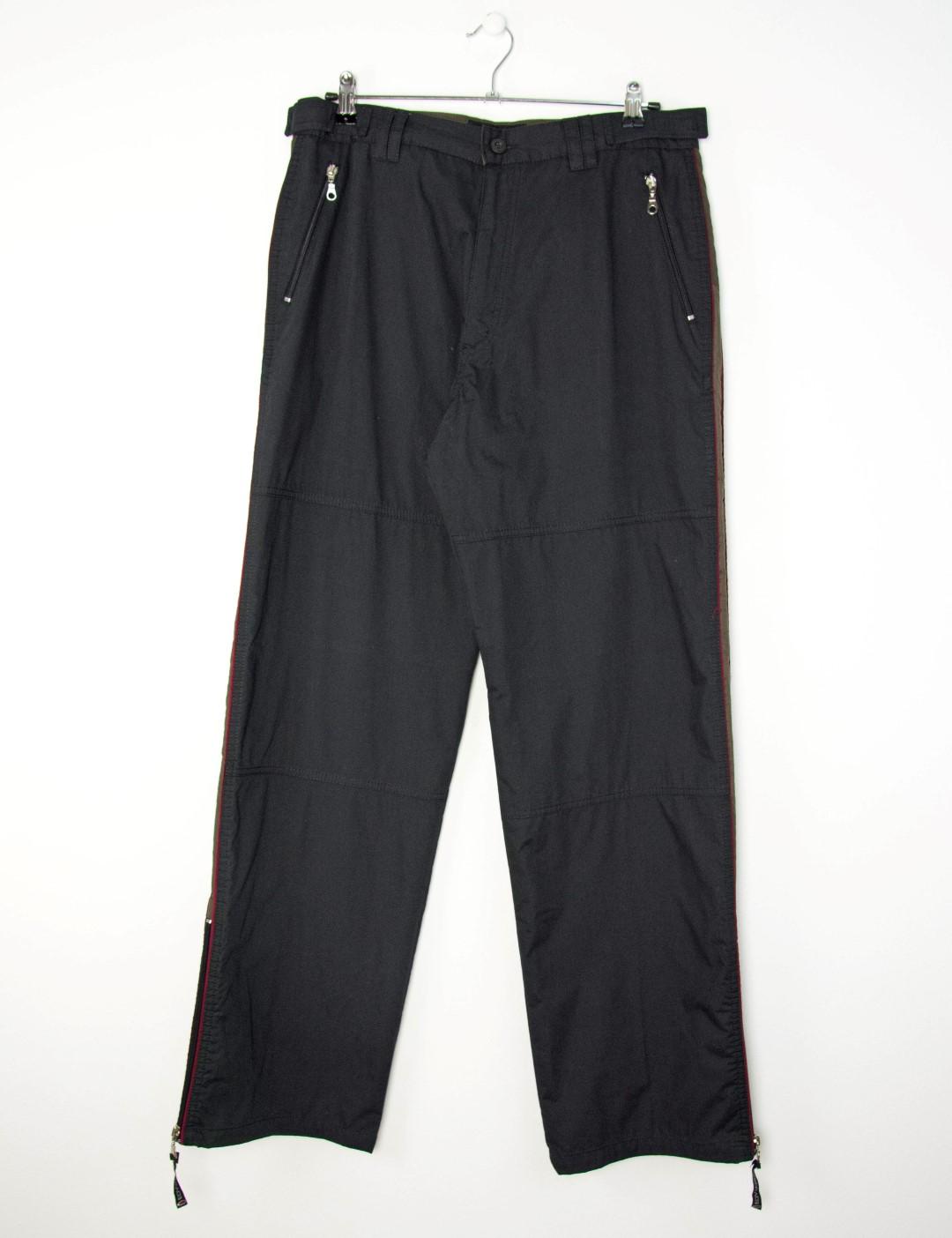 Ανδρικό μαύρο υφασμάτινο παντελόνι με ρίγα 4630D 7192d7935b4