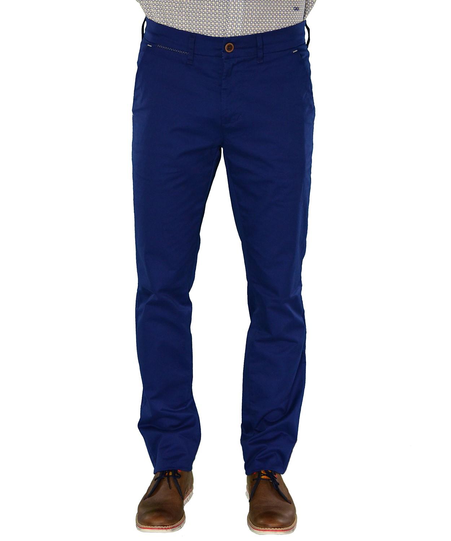 13122917c95b Ανδρικό παντελόνι Trial μπλε υφασμάτινο Taylor S17