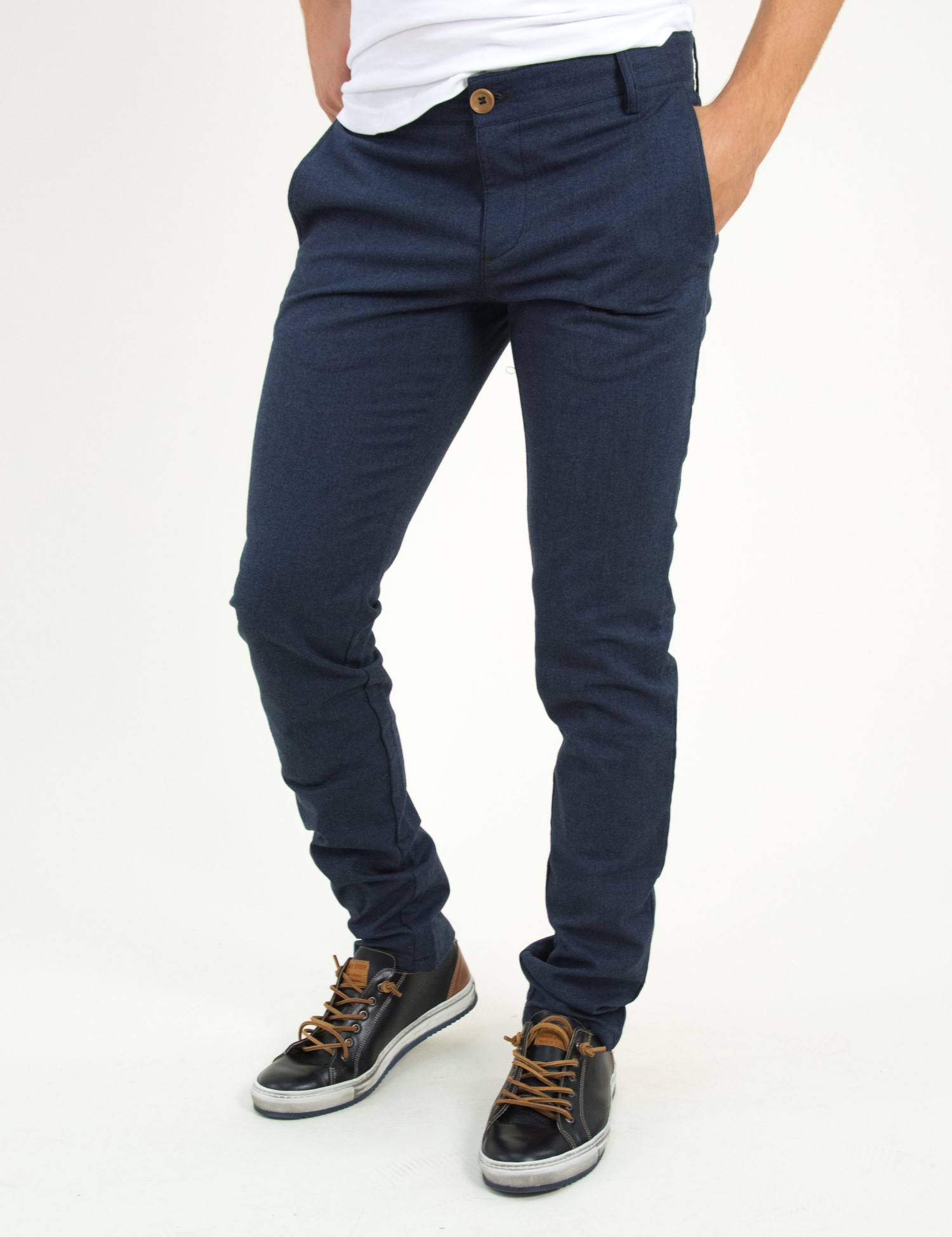 Ανδρικό υφασμάτινο παντελόνι μπλε GioS 6723W18 f9e746a9ec6